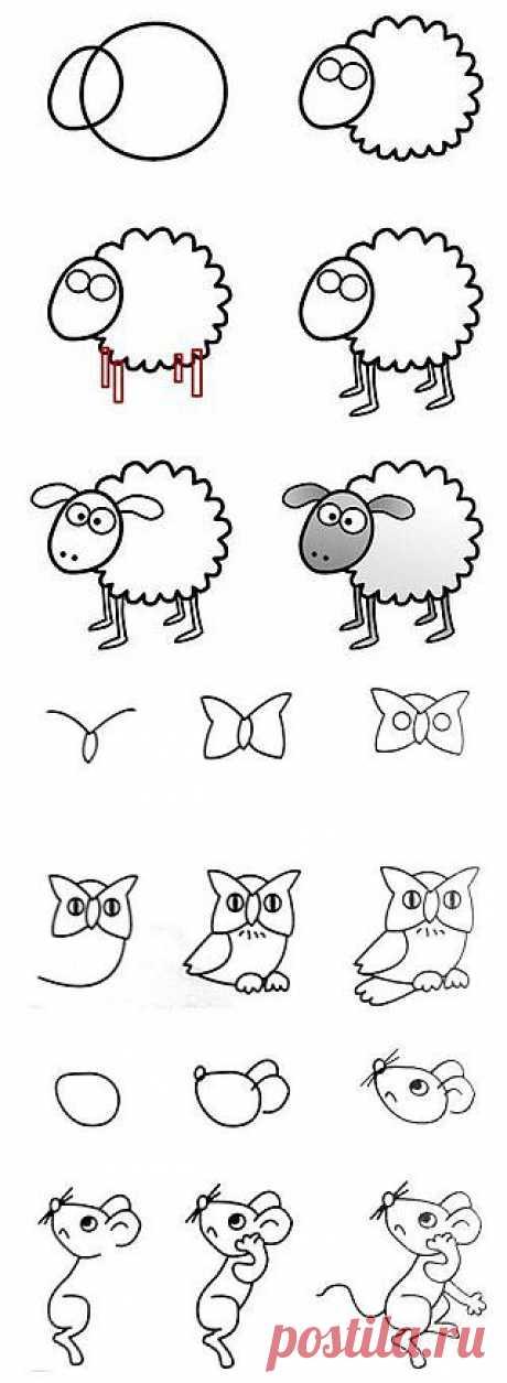 Этапы рисования.
