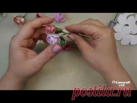 МК Розы для скрапбукинга /4 способа