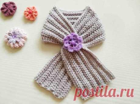 Теплый и мягкий шарф крючком, чтобы ребенок не простудился » «Хомяк55» - всё о вязании спицами и крючком