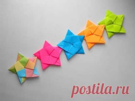 Красивая гирлянда из бумаги. Новогодние поделки оригами своими руками | Страна Мастеров