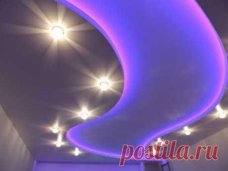 Как сделать светящийся подвесной потолок — Идеи ремонта