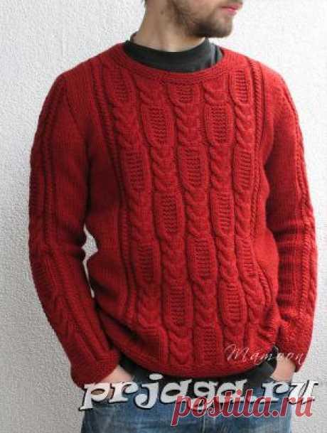 Мужской жакет и свитер спицами или крючком