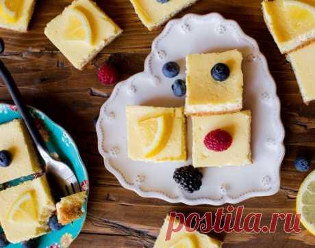 Греческие пирожные с лимоном – легче лёгкого!