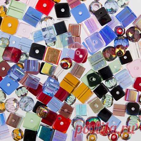 """Бусины стеклянные """"Zlatka"""" MIX, 100±5 г, цвет: ассорти"""