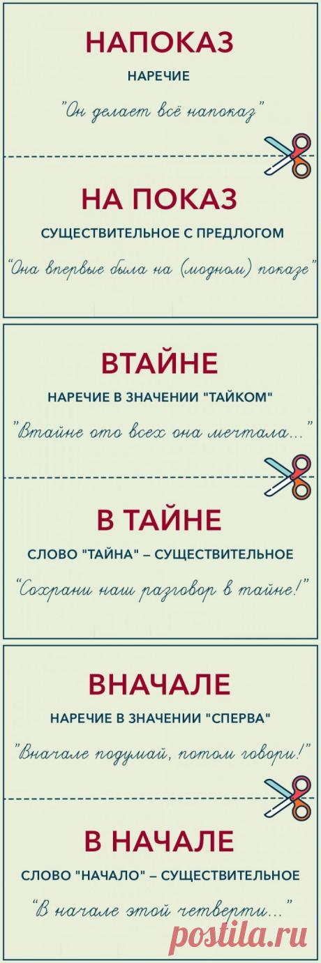 Как писать по-русски правильно