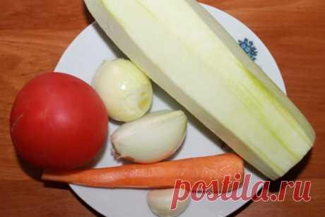 Овощное рагу: кабачки тушеные с рисом - Сабрина