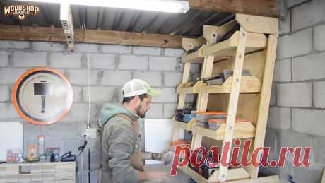 Как сделать подвесные полки в гараже или мастерской которые не занимают место | Своими руками