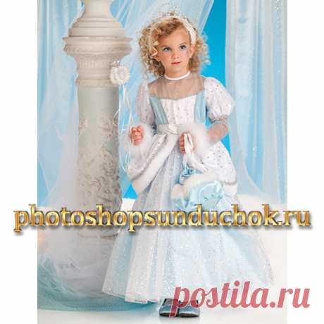 PhotoshopSunduchok - Шаблон для фотошопа фея в бело-голубом платье