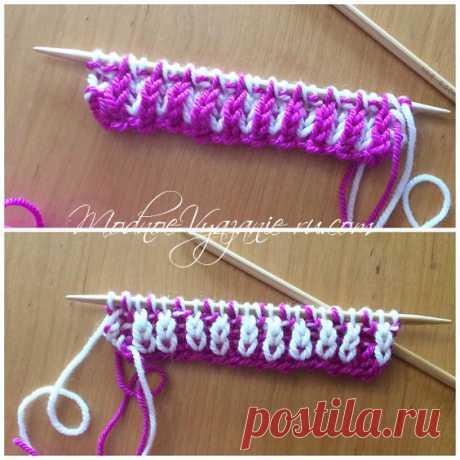 Уроки вязания в технике бриошь Brioche knitting