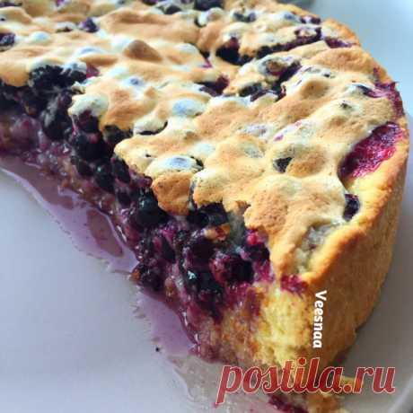 Швабский пирог с черной смородиной   Кулинарный блог