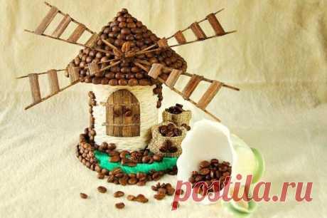 Декоративная коробочка Аромат кофе тонизирует, поднимает настроение, вдохновляет на творчество и работу. А фигурки, оформленные зернами кофе, создают в интерьере чудесную атмосферу уюта, придают пикантность и законченность ...