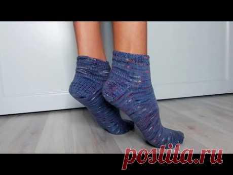 Носки с круглой французской пяткой видео-МК - Вязание - Страна Мам