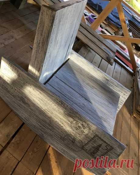 Кресло-качалка своими руками (Правый подлокотник)