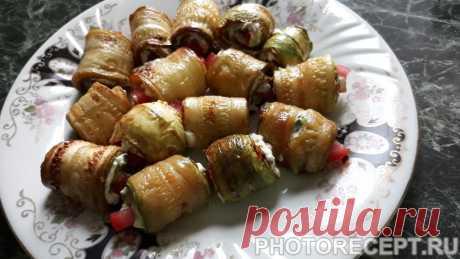 Рулеты из кабачков - рецепт с фото пошагово