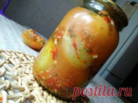 Зеленые помидоры по армянски на зиму — Кулинарная книга - рецепты с фото