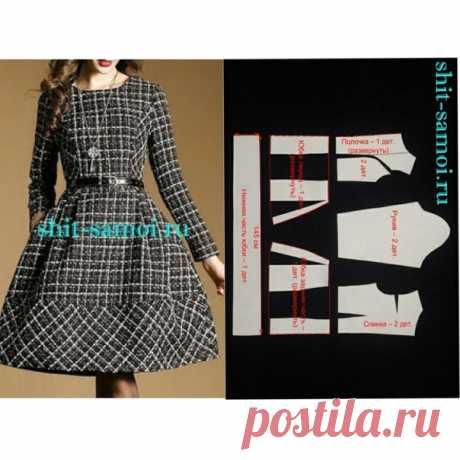 Моделирование платья со складками #шитье #выкройки #моделирование #платье #сдлиннымрукавом #соскладками #бесплатныевыкройки