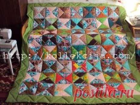 Лоскутное одеяло из квадратов   Своими руками — интернет журнал