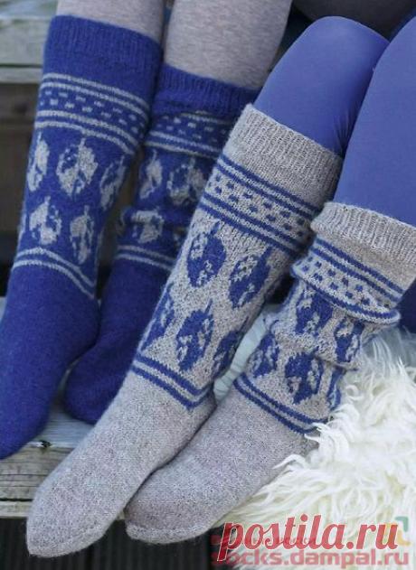Высокие вязаные носки «Ranveig» | ВЯЗАНЫЕ НОСКИ