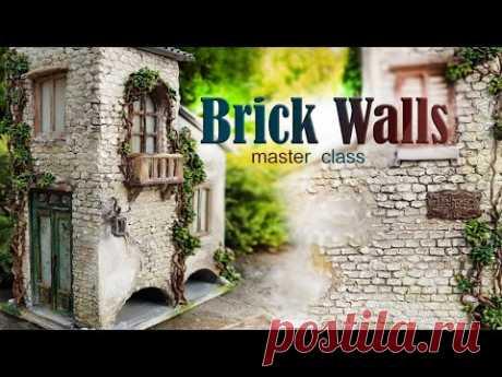 Как сделать кирпичные стены для домика