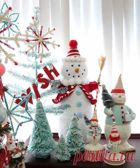 nieves y arbolitos para adornar el arbol