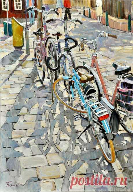 Иллюстрация Велосипеды. Просмотреть иллюстрацию Велосипеды из сообщества русскоязычных художников автора Тютрин Петр в стилях: Этюд, нарисованная техниками: Масло.