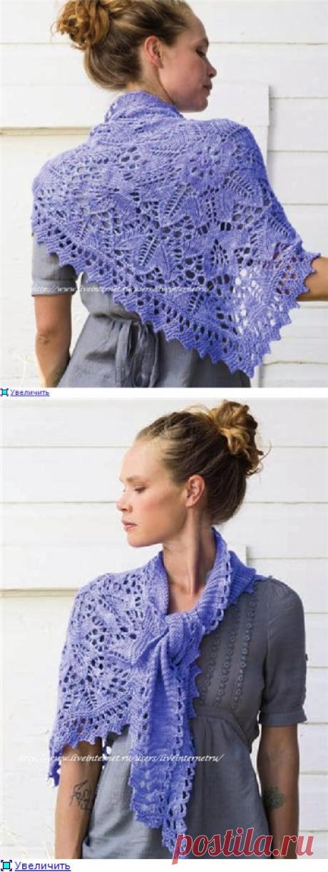 Ажурная шаль спицами /Lale Shawl by Corrina Ferguson.