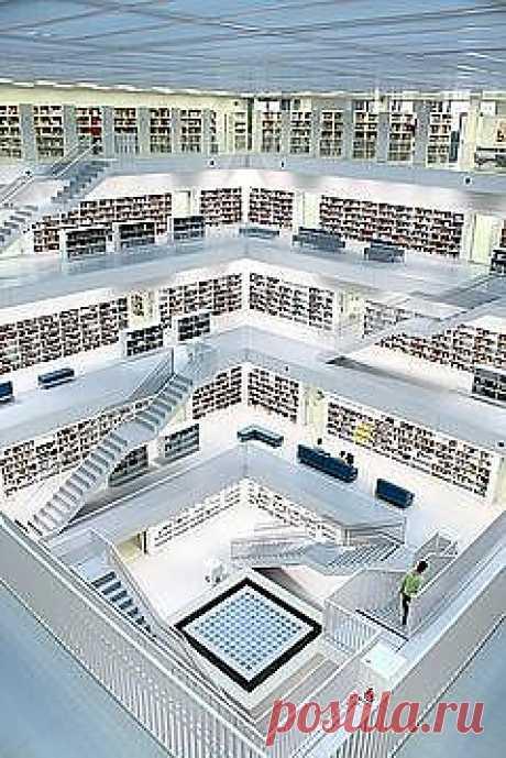 Библиотека Штутгарта... красотища!