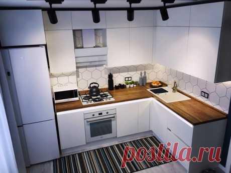 Стильная кухня в белом цвете