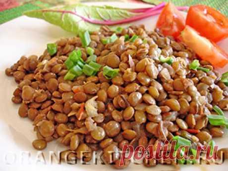 Постное блюдо из чечевицы с чесноком