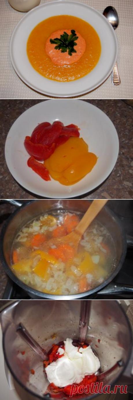 Сырный суп со сладким перцем и картофелем Если крем в центре супа выложить в форме сердечка, то такое блюдо можно приготовить на 14 февраля. А иначе он хорошо будет и в любой другой день.