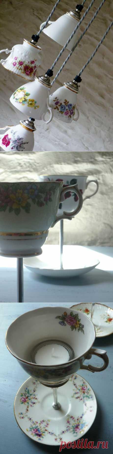 Светильники из посуды (подборка) / Освещение / Модный сайт о стильной переделке одежды и интерьера