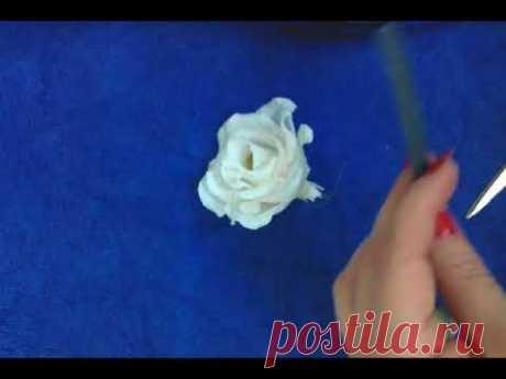 Как сделать розу - мастер класс - YouTube