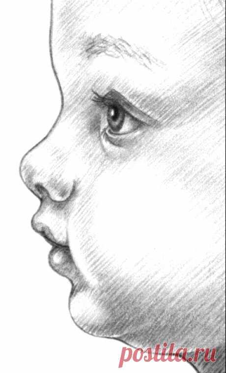 Рисуем лицо младенца: пошаговый урок — Сделай сам, идеи для творчества - DIY Ideas