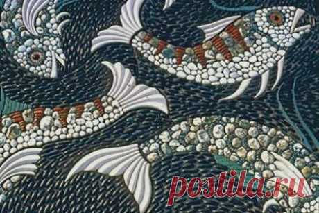 Мозаика из морской гальки: идеи — DIYIdeas
