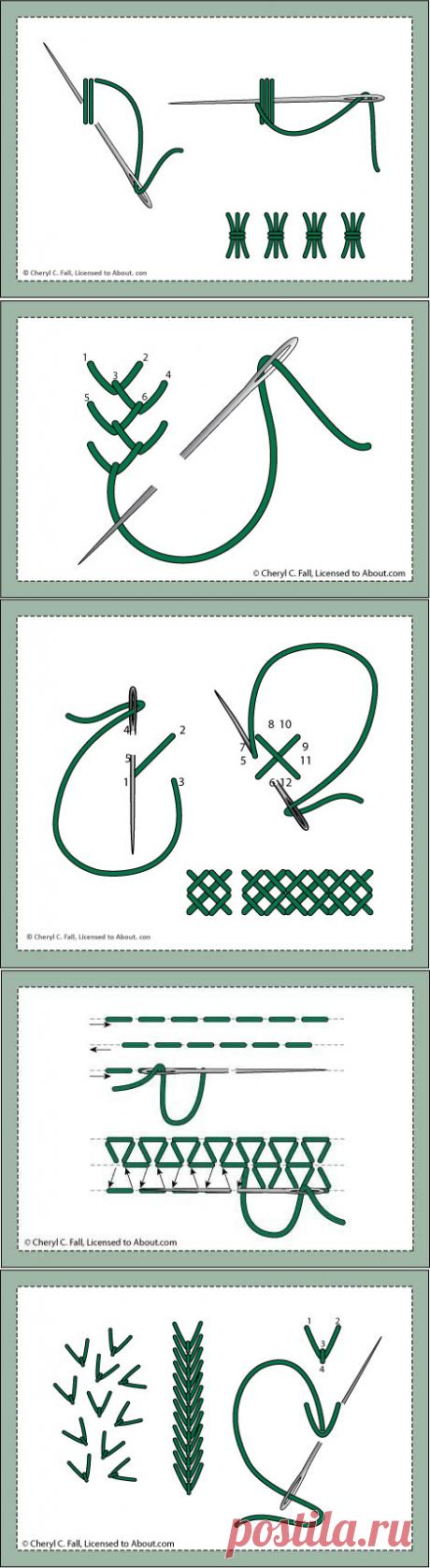 Декоративные швы (из интернета)