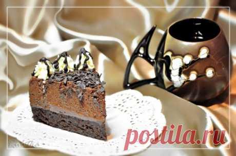 Шоколадно-медовый торт-мусс.
