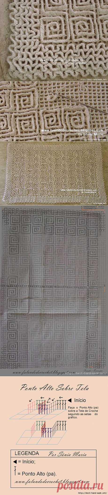 Оригинальные коврики крючком.