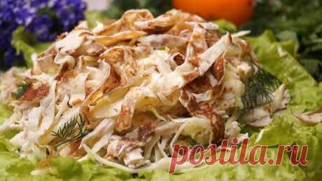 Салат из капусты с куриным филе         Салат из капусты с куриным филе. Поразит всех минимальным набором ингредиентов и потрясающим вкусом. Имеет достаточно интересный и своеобразный вкус, который не удастся заменить ничем. ИНГРЕДИ…