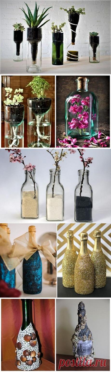 Идеи декора бутылок своими руками