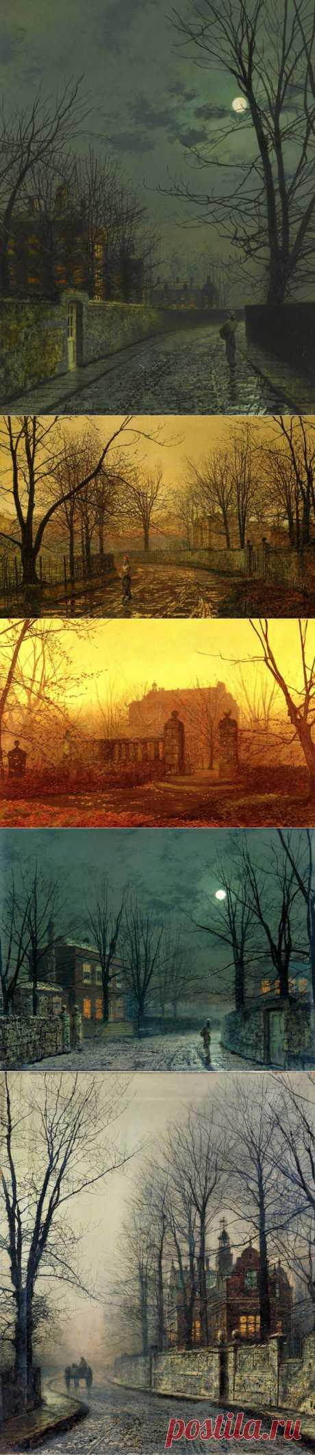 Сумеречный художник Джон Эткинсон Гримшоу (1836-1893) | Пейзаж и марина. (часть-1).