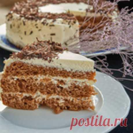 Мокрый торт со сметанным кремом
