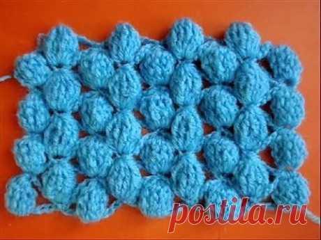 ▶ Вязание крючком - Узор 8 Шишечки - Crochet pattern - YouTube