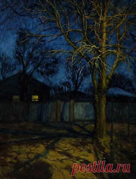 Los cuadros (pintura): la tarde Avanzada. El autor el Amor Pávlovna Bychenko (Vahrusheva)