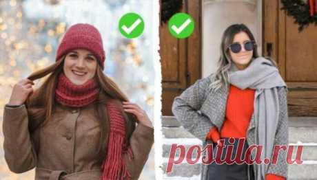 Учимся подбирать шарф под верхнюю одежду: подсказки и 7 фотопримеров   Офигенная