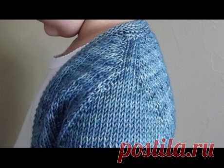 Вязание спицами. Имитация вшивного рукава. - YouTube