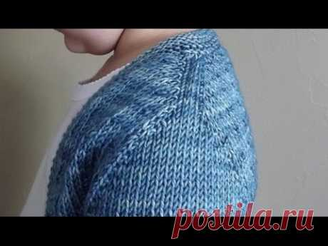Вязание спицами. Имитация вшивного рукава.