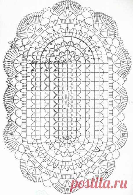 Овальная салфетка - Для уюта в доме - Рукоделие и творчество - Рукоделие