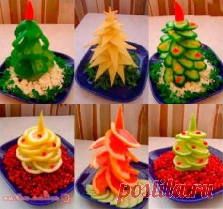 Украшение салатов на Новый год 2016: с фото