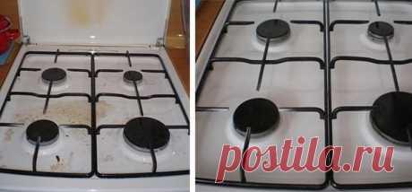 Чистая плита без усилий.  Очень трудно бывает отмыть газовую или электрическую плиту. Чтобы облегчить работу применяют специальный состав. Он позволяет плиту не отмывать, а просто протирать. Тонкий слой этой смеси на плите незаметен (на белой). Зато при уборке любая грязь отмывается без усилий. Процесс будет непрерывный. Первый раз хорошо отмойте плиту, затем смажьте составом. И живите спокойно, пока не помоете плиту (по необходимости). И снова чистую плиту смажьте. И т.д....