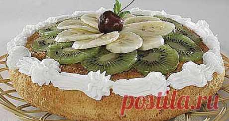 Пирог из творога с киви с бананами. - Рецепты - Доставка пиццы, обедов, суши, питьевой воды домой и в офис, банкет, кейтеринг, организация мероприятий в Петербурге